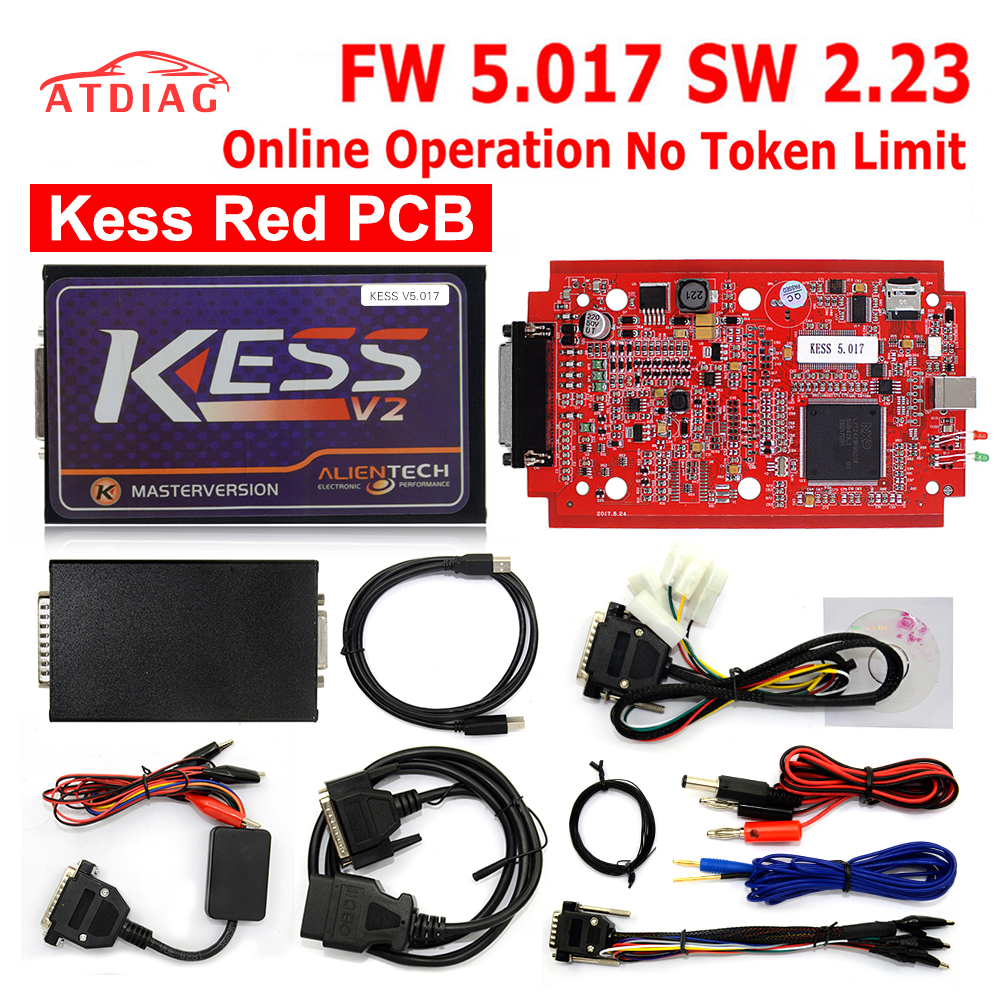KESS V2 V5.017 kess v2 5.017 Master obd ii OBD2 Manager ecu programming tools support KESS RED PCB board